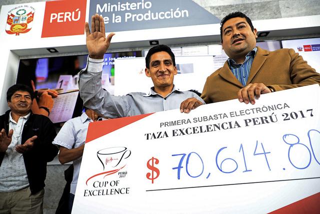 Café peruano se vendió a US$10.000 por quintal