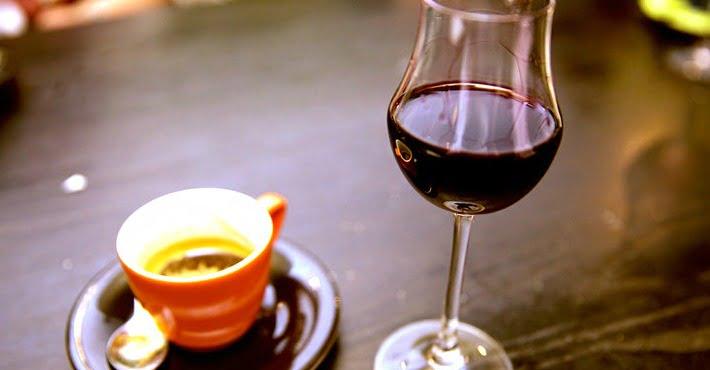 El vino y el café en la literatura