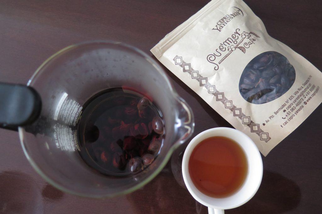 Coffee cherry tea o tu café hecho té