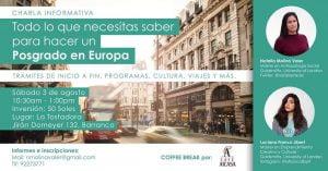 Charla en La Tostadora: Lo que debes saber para hacer un posgrado en Europa