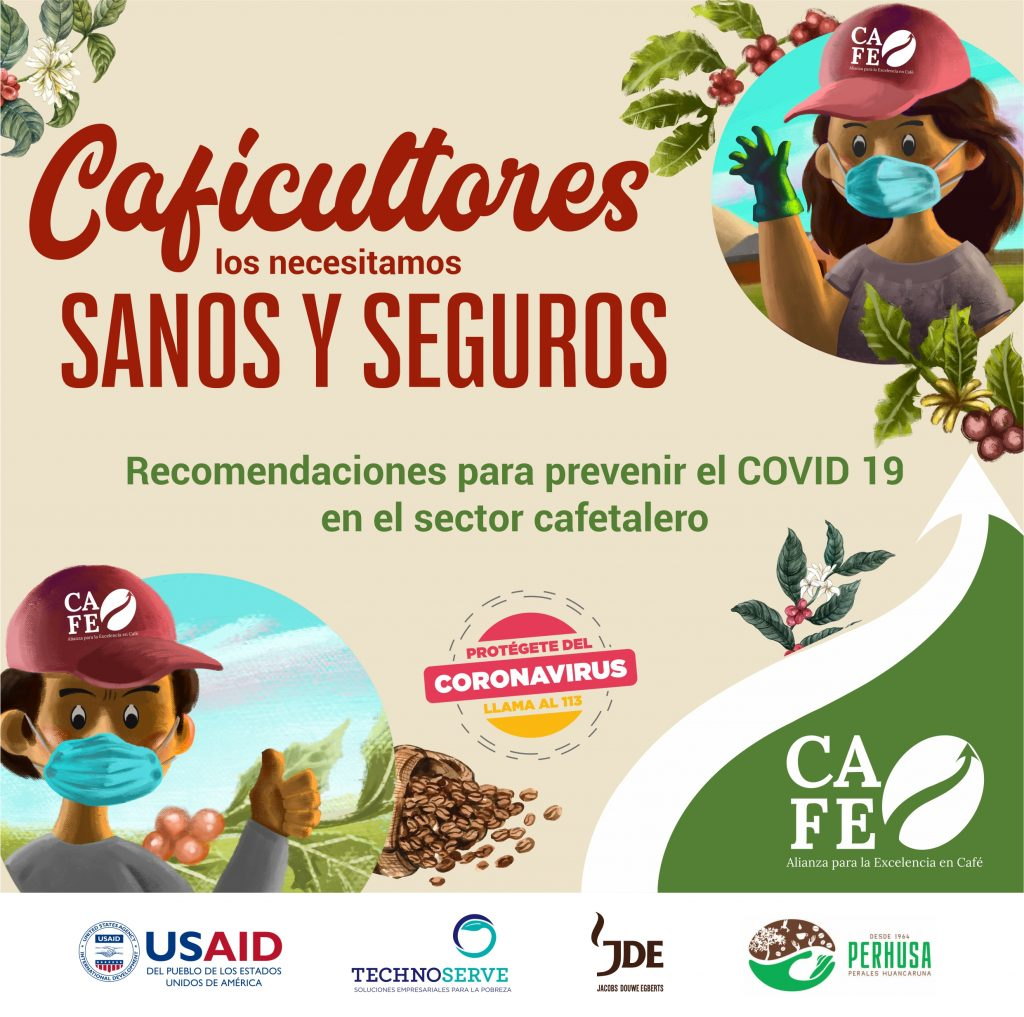 Recomendaciones para prevenir el COVID-19 en el sector cafetalero
