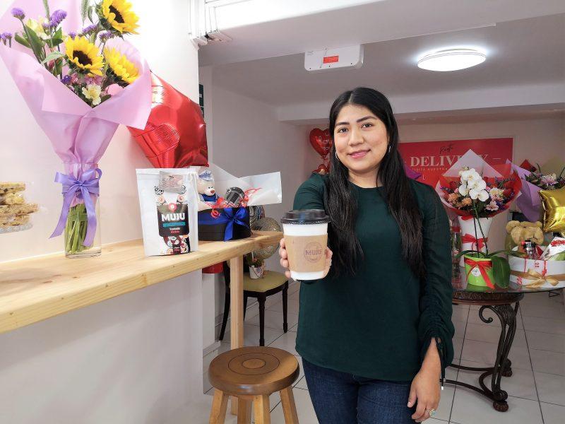 La barra cafetera de Muju Café en San Isidro