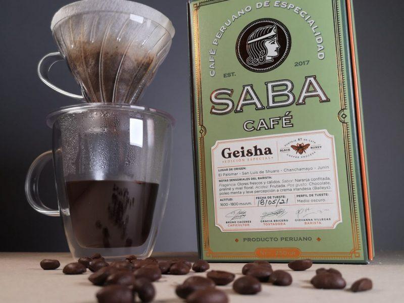 El Geisha de Chanchamayo para V60 de la marca Saba Café