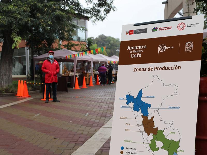 """Se relanza campaña """"Amantes de nuestro café"""" en ecoferias de Lima"""