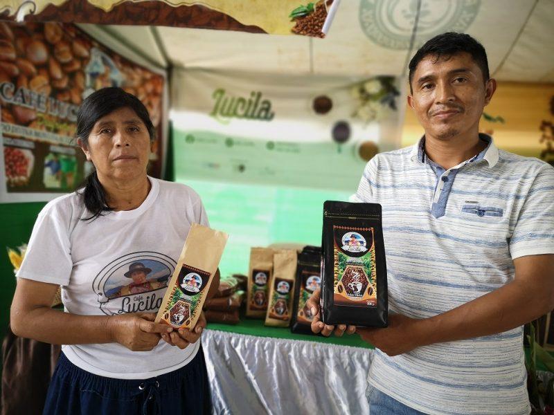 Emprendimientos con cafés del Valle del Monzón y Hermilio Valdizán